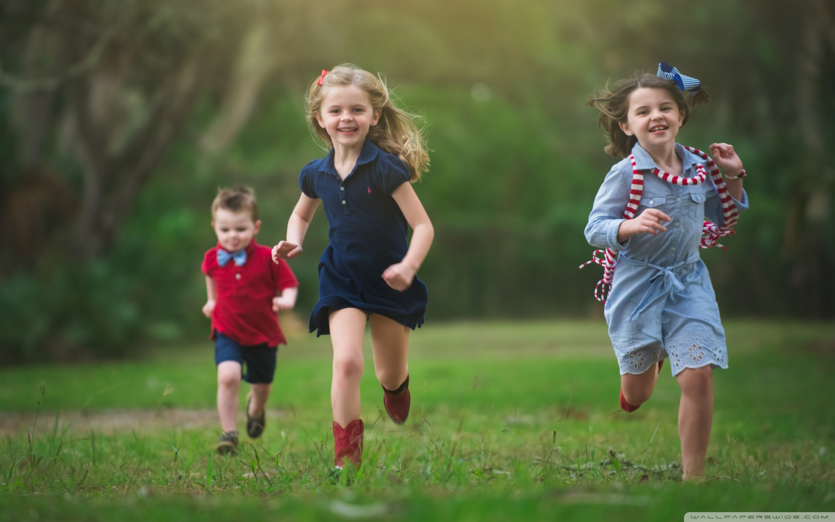 Children living happy lives with positive psychology.